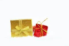 Contenitore di regalo di natale Fotografie Stock