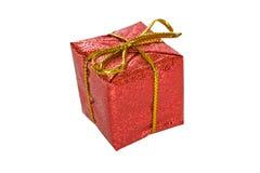 Contenitore di regalo di natale isolato su bianco Immagine Stock