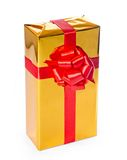Contenitore di regalo dorato Immagini Stock