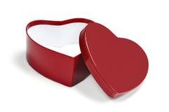Contenitore di regalo a forma di del biglietto di S. Valentino del cuore Fotografie Stock Libere da Diritti