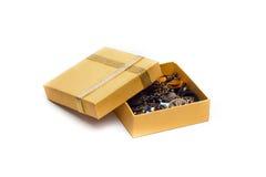 Contenitore di regalo giallo Immagine Stock Libera da Diritti