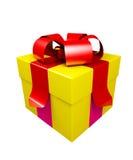 Contenitore di regalo isolato su bianco immagini stock libere da diritti