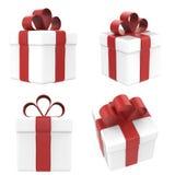 Contenitore di regalo isolato su bianco Fotografie Stock Libere da Diritti