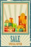 Contenitore di regalo nella vendita Immagini Stock Libere da Diritti