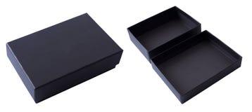 Contenitore di regalo nero Immagini Stock
