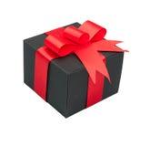 Contenitore di regalo nero Fotografie Stock