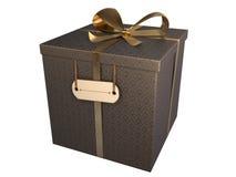 Contenitore di regalo nero con documento barrocco illustrazione vettoriale