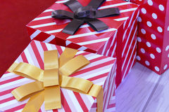 Contenitore di regalo per il concetto del nuovo anno e di natale Fotografie Stock