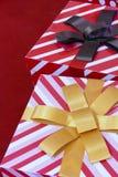 Contenitore di regalo per il concetto del nuovo anno e di natale Fotografie Stock Libere da Diritti