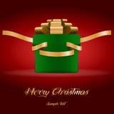 Contenitore di regalo per il Natale Immagini Stock
