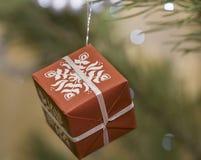 Contenitore di regalo per il Natale Fotografia Stock