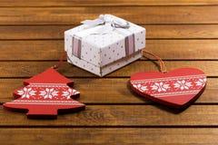 Contenitore di regalo per il Natale Immagini Stock Libere da Diritti