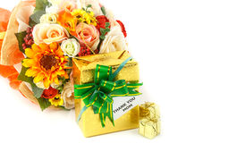 Contenitore di regalo per la festa della Mamma immagini stock
