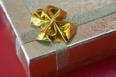 Contenitore di regalo per natale Fotografie Stock