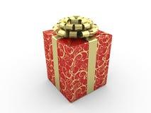 Contenitore di regalo rosso Illustrazione Vettoriale