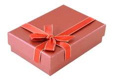 Contenitore di regalo rosso Immagine Stock Libera da Diritti