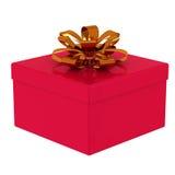 Contenitore di regalo rosso 3d. Fotografia Stock