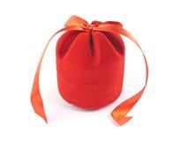 Contenitore di regalo rosso chiuso Immagini Stock Libere da Diritti