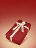 Contenitore di regalo rosso di natale Fotografia Stock Libera da Diritti
