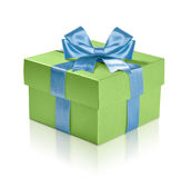 Contenitore di regalo verde Immagine Stock Libera da Diritti