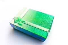Contenitore di regalo verde. Fotografia Stock Libera da Diritti