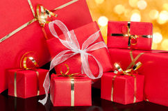 Contenitore di regalo verde Fotografia Stock