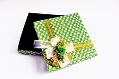Contenitore di regalo verde Fotografie Stock
