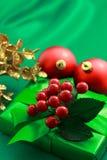 Contenitore di regalo verde di natale Fotografia Stock Libera da Diritti
