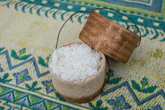 Contenitore di riso appiccicoso Immagine Stock Libera da Diritti