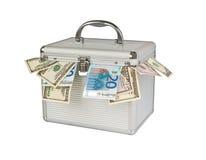 Contenitore di soldi Fotografia Stock