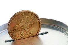 Contenitore di soldi Fotografia Stock Libera da Diritti