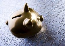 Contenitore di soldi Immagine Stock