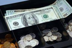 Contenitore di soldi Immagini Stock