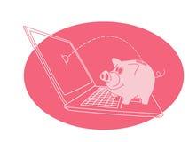 Contenitore di soldi del maiale Immagini Stock Libere da Diritti