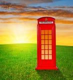 Contenitore di telefono britannico Fotografie Stock