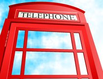 Contenitore di telefono britannico illustrazione vettoriale