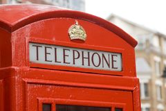 Contenitore di telefono rosso di Londra Fotografia Stock