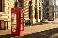 Contenitore di telefono rosso di Londra Fotografie Stock Libere da Diritti