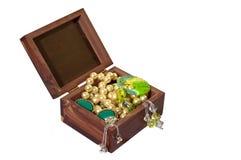 Contenitore di Trinket con Jewelery Immagine Stock Libera da Diritti