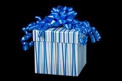 Contenitore e presente di regalo blu fotografia stock libera da diritti