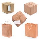 Contenitore e sacchetti di regalo Fotografie Stock Libere da Diritti