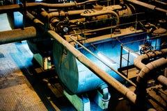 Contenitore in fabbrica Fotografie Stock