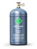 Contenitore industriale liquefatto del gas dell'azoto illustrazione vettoriale