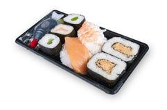 Contenitore nero di sushi Fotografia Stock