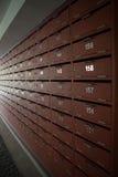 Contenitore o cassetta delle lettere di posta dell'armadio Immagini Stock Libere da Diritti
