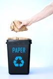 Contenitore per il riciclaggio - carta Fotografie Stock Libere da Diritti
