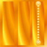 Contenitore quadrato di oro Fotografia Stock Libera da Diritti