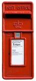 Contenitore rosso britannico di alberino, letterbo Fotografie Stock
