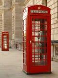 Contenitore rosso di telefono immagini stock