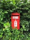 Contenitore rurale di posta, U k Fotografie Stock